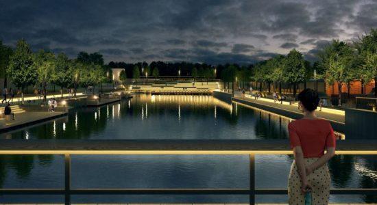 Архитекторы показали таличанам проект набережной городского пруда