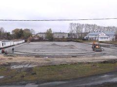 Строительство спортивного комплекса в Пионере
