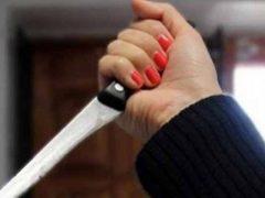 Жена ударила мужа ножом