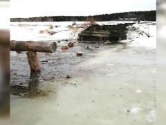 Низководный мост на Пышме разобран на период половодья