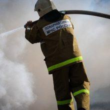 Мужчина пострадал при пожаре