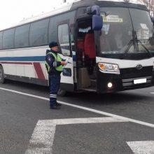 Массовые проверки пассажирских автобусов проводят сотрудники ГИБДД Талицкого района