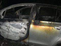 Под Тугулымом в результате ДТП загорелась машина