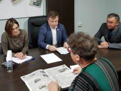 В Талице прием граждан провел депутат Госдумы Максим Иванов