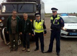 Талицкие полицейские пришли на помощь иностранным туристам
