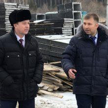 Министр ознакомился с ходом реконструкции дорог в Талице