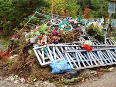 Кладбище-не место для прогулок!