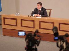 Пресс-конференция губернатора Свердловской области