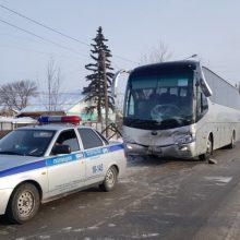 В ДТП попал автобус с 12-ю пассажирами