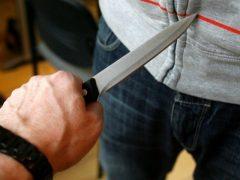 Нанес ножевое ранение собеседнику
