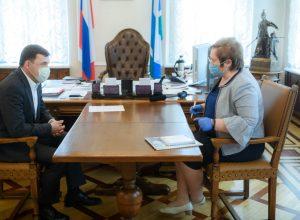Евгений Куйвашев обсудил с Татьяной Мерзляковой организацию голосования по внесению изменений в Конституцию РФ