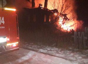В огне пострадал мужчина