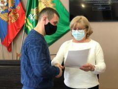 В администрации округа вручили  единовременные выплаты ветеранам-чеченцам