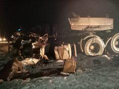 Погиб водитель грузовика…