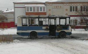 Сгорел автобус Талицкой ЦРБ