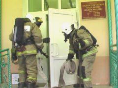 Тренировка по пожарной безопасности в детской консультации