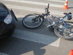В ДТП пострадала 9-летняя девочка-велосипедист